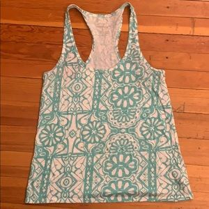 Teal and white tank from AE